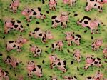 FUNNY COWS - Fabric 100% Cotton - Price Per Metre